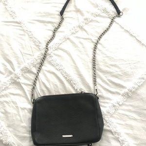 Black leather Rebecca Minkoff crossbody bag